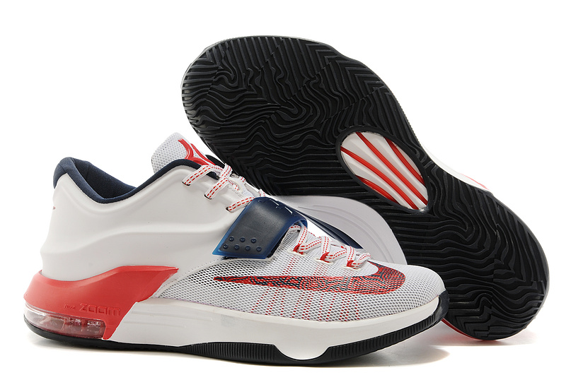 Nike Kevin Durant KD 7 VII USA White Obsidian-University Red For Sale