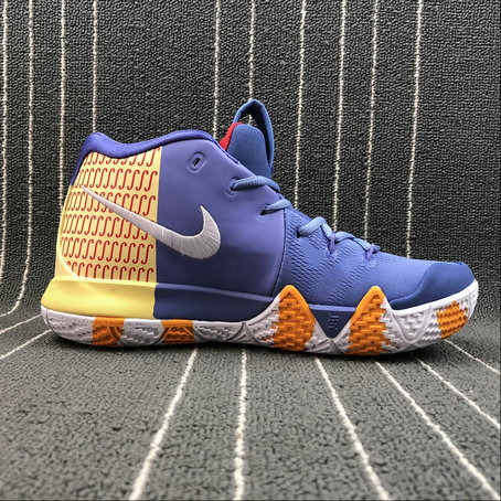 Nike Kyrie 4 London AR6189-50 Purple Yellow Red White Yellow Haune Pourpre Rouge Blanc