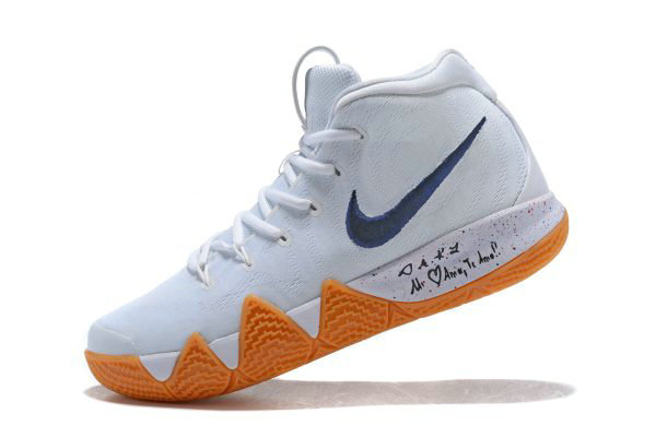 Cheap Nike Kyrie 4 Uncle Drew White Gum Mens Basketball Shoes AQ8623-001 f3eaa1dfa
