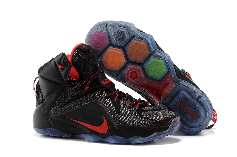 Nike LeBron 12 Black Red For Sale