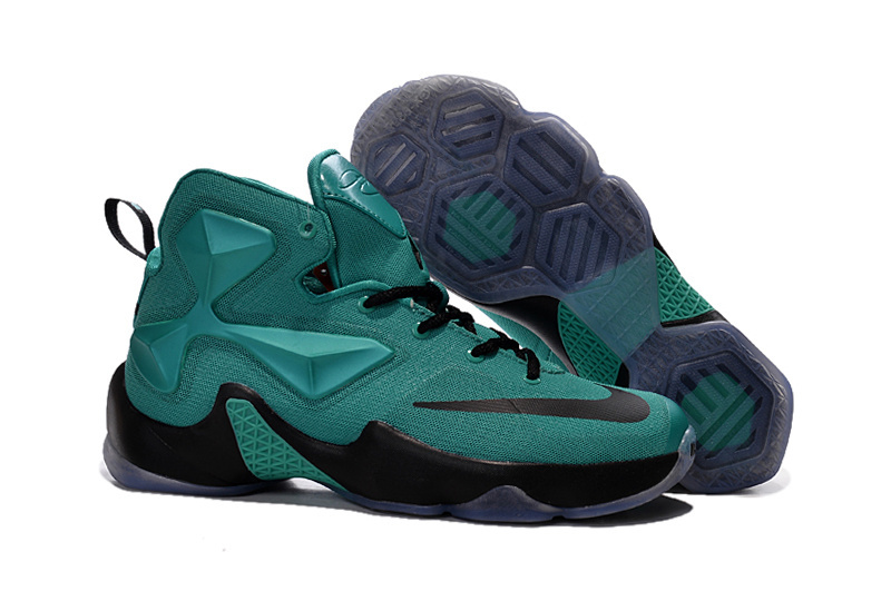 Nike LeBron 13 Hyper Turquoise Black Metallic Basketball Shoes For Sale