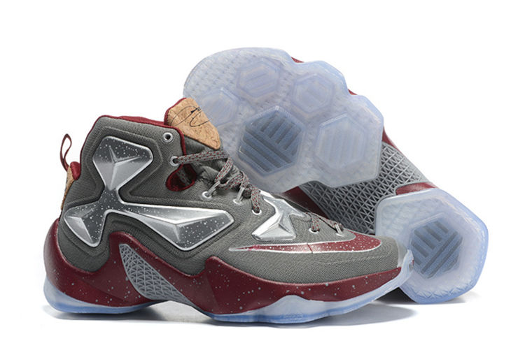 Nike LeBron 13 Opening Night Fine Wine Wolf Grey Basketball Shoes