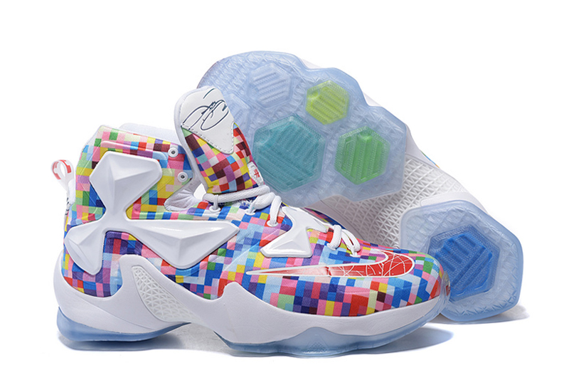 sale retailer c700a 532af Nike LeBron 13 Prism Multi-Color University Red-White ...