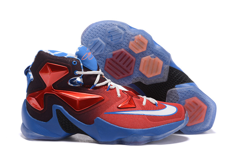 Nike LeBron 13 USA Red White-Blue Basketball Shoes