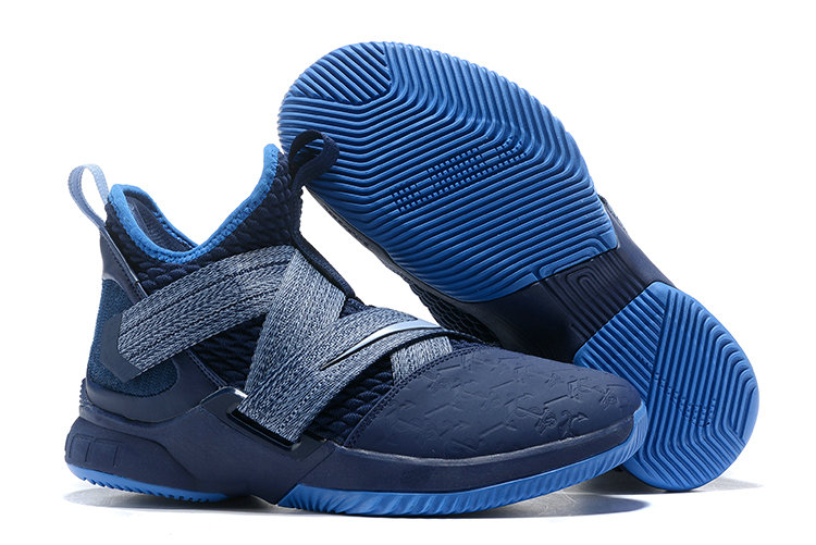 Cheap Nike LeBron Soldier 12 AO2609-401 Blackened Blue Work Blue-Gym Blue