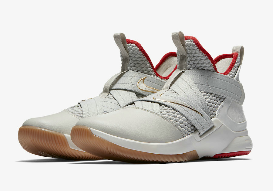 new arrival 7b075 314f8 ... Straps Black Red AO2609-003  89.99. Cheap Nike LeBron Soldier 12 AO2609-002  Light Bone Light Bone