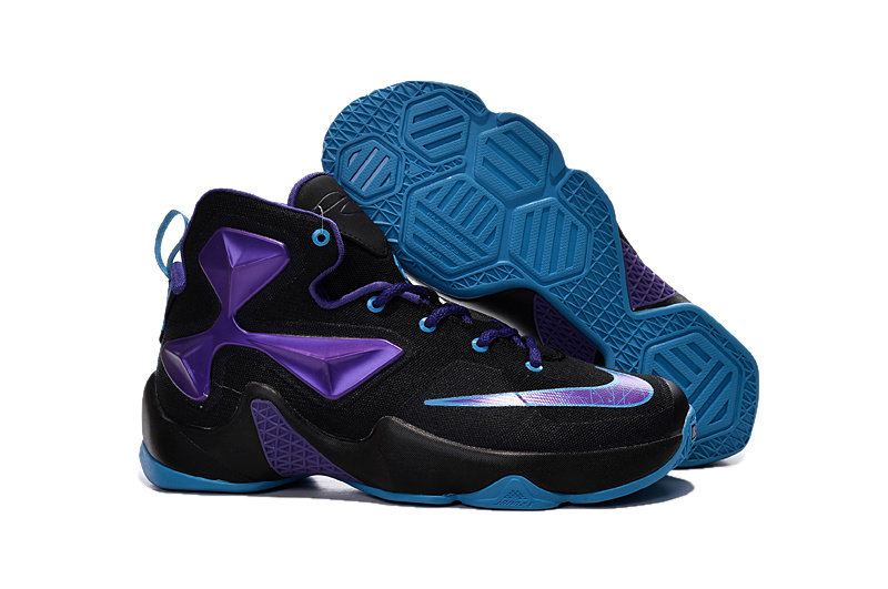 Nike Lebron 13 Hornets Club Purple Black Vivid Blue For Cheap