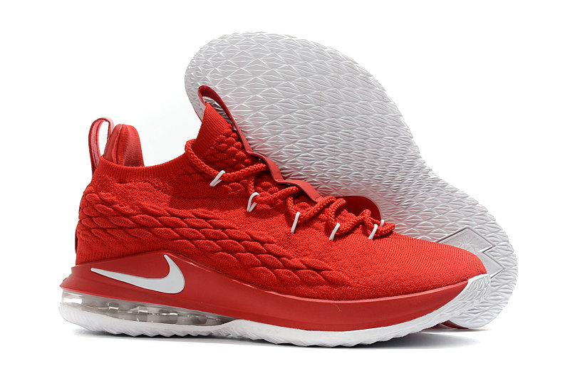 Nike Lebrons 15 Cheap University Red White