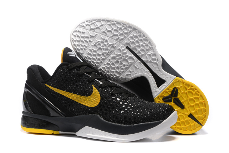Nike Zoom Kobe 6 Black Yellow Basketball Shoes