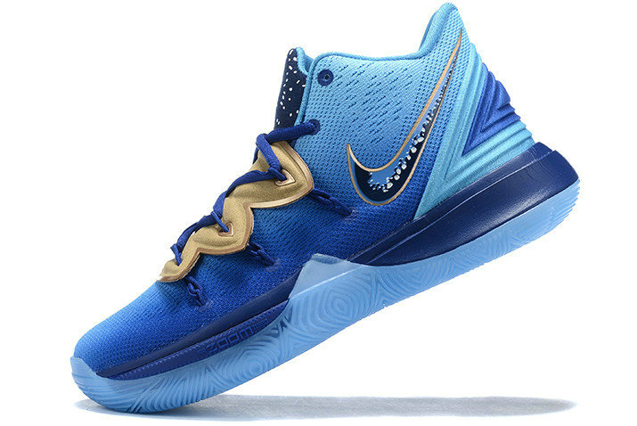 Where To Buy Shop 2019 Concepts x Nike Kyrie 5 Blue Gradient Metallic Gold Shoes