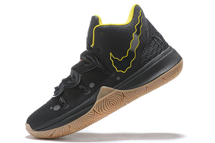 Where To Buy SpongeBob SquarePants x Nike Kyrie 5 Reaction Black Yellow-Gum Mens Size