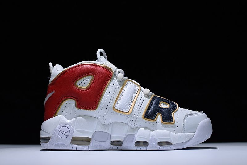 d4358cd43bcffb Supreme x Nike Air More Uptempo White Black Red Gold For Sale ...