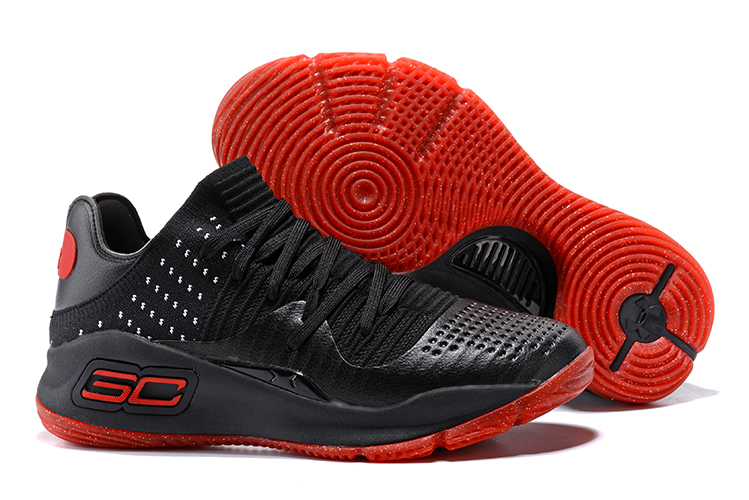 Under Armour Curry 4 Low Black Varsity Red-White 2017 For Sale