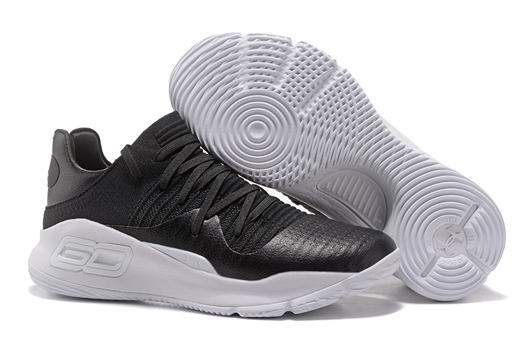 Under Armour Curry 4 Low Black White 2017 For Sale