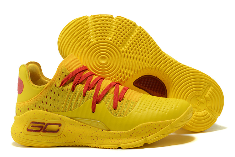 Under Armour Curry 4 Low Bruce Lee Yellow Red For Sale