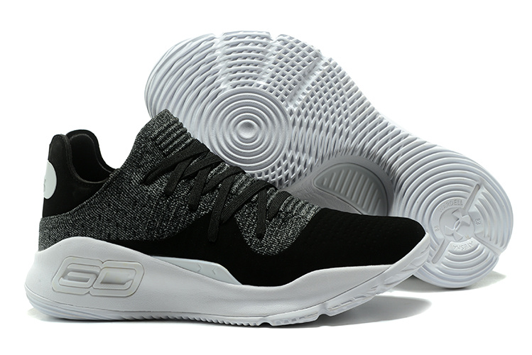 Under Armour Curry 4 Low Oreo Black White For Sale