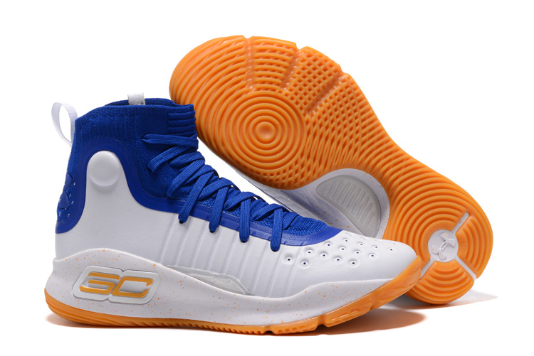 Under Armour Curry 4 Royal Blue White-Gum 2017 For Sale