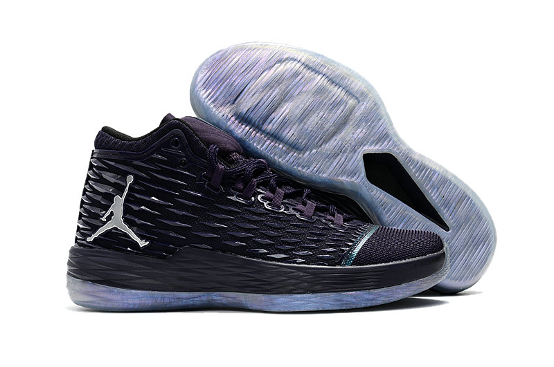 Where To Buy Cheap Nike Air Jordan Melo M13 Purple Dynasty Metallic Silver