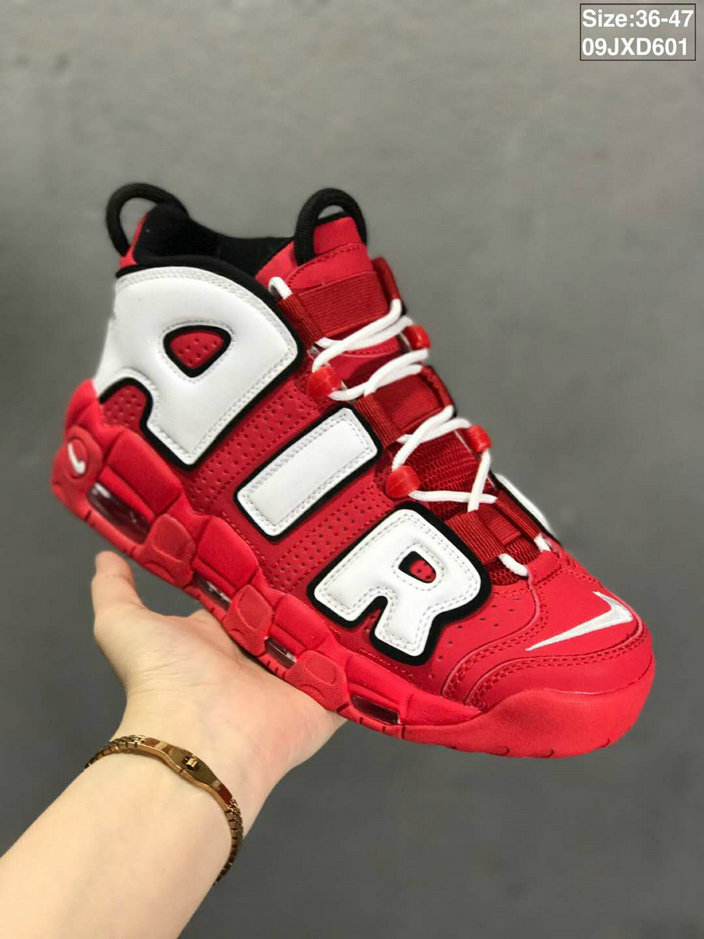 Where To Buy Cheap Nikes Air More Uptempo Rouge Red White Black