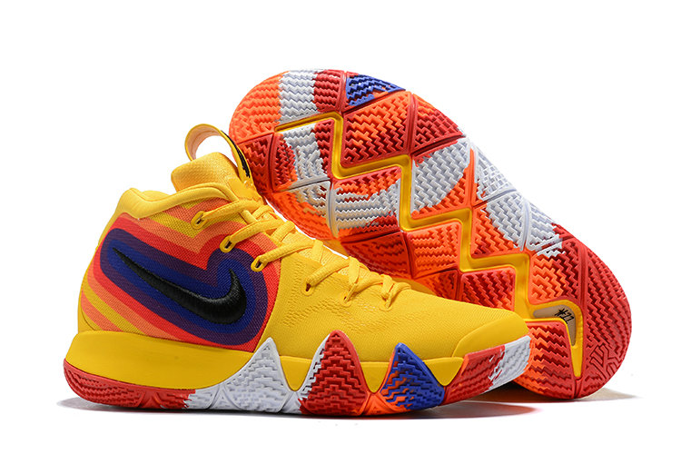 15dd2c0d3f14 Cheap Where To Buy Nike Kyrie 4 70s 943807-700 Yellow Orange Purple and Red