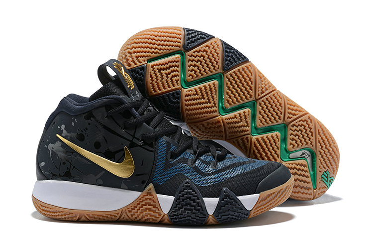 Cheap Where To Buy Nike Kyrie 4 Pitch Blue Metallic Gold 943807-403 ... 5f063c8d4