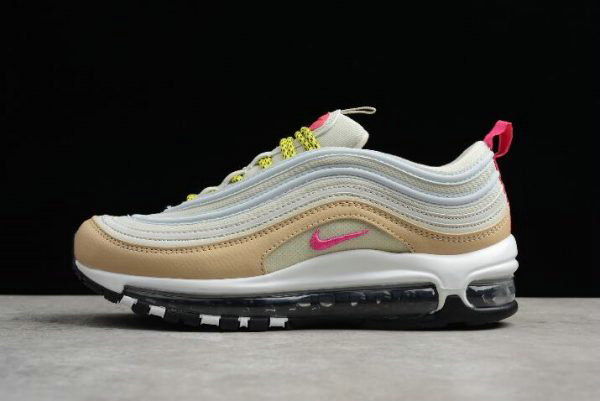 7e58acb51f Cheap Womens Nike Air Max 97 OG White Tan Light Bone Deadly Pink-Mushroom  921733