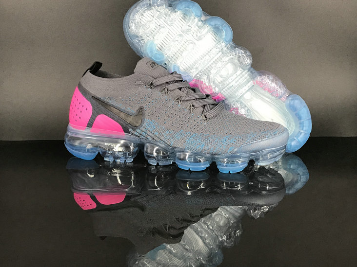 buy popular bba0d 5d1a4 Womens NikeLab VaporMax Flyknit 2.0 Pink Grey Green - Cheap ...