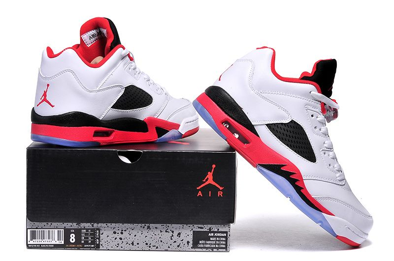 f93fcb17ca97 2017 Air Jordan 5 Low Fire Red White Fire Red-Black - Cheap Nike Air ...