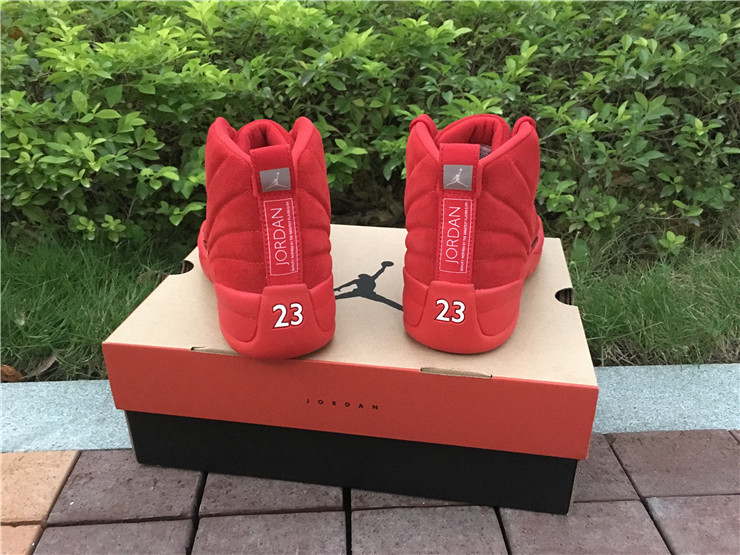 e5796c081dea ... 2017 Cheap Air Jordan 12 Premium Red Suede Christmas Red For Sale ...