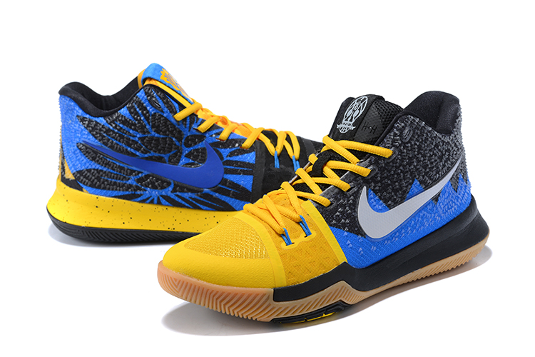 cheap for discount ab19d d3352 ... 2017 Cheap Kyrie 3 What The University Gold Blue Glow-Black For Sale ...