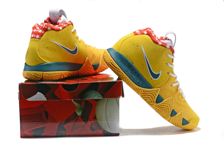 huge selection of 68a69 7427f ... 2018 Nike Kyrie Shoes x Cheap Nike Kyrie 4 Yellow Lobster