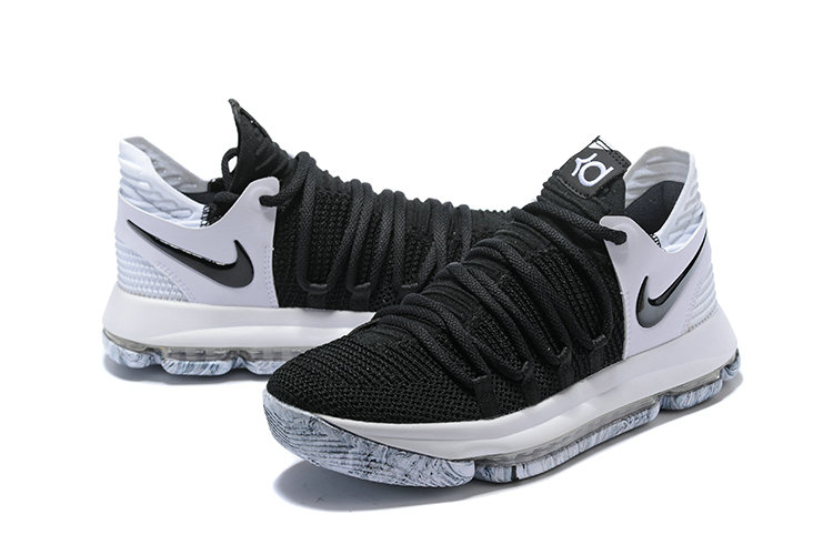 25b368ab7041 ... 2018 Nike Kevin Durant x Cheap Nike KD 10 Black And White Colorways ...