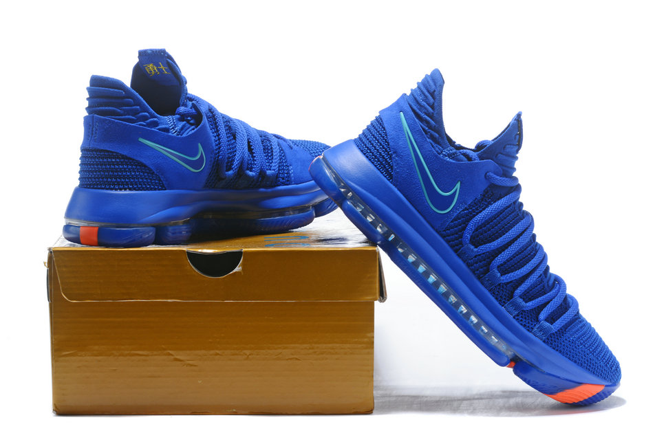 online store bbda8 ac67c 2018 Nike Kevin Durant x Cheap Nike KD 10 City Edition Racer Blue ...