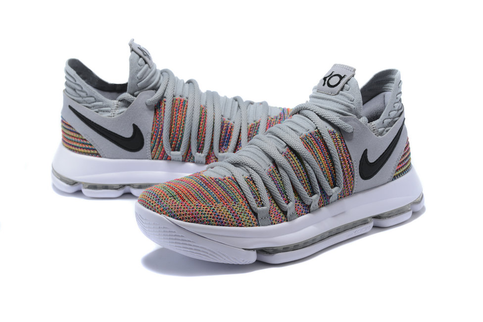 f306acd1144c ... 2018 Nike Kevin Durant x Cheap Nike KD 10 Multi-Color Black-Cool Grey  ...