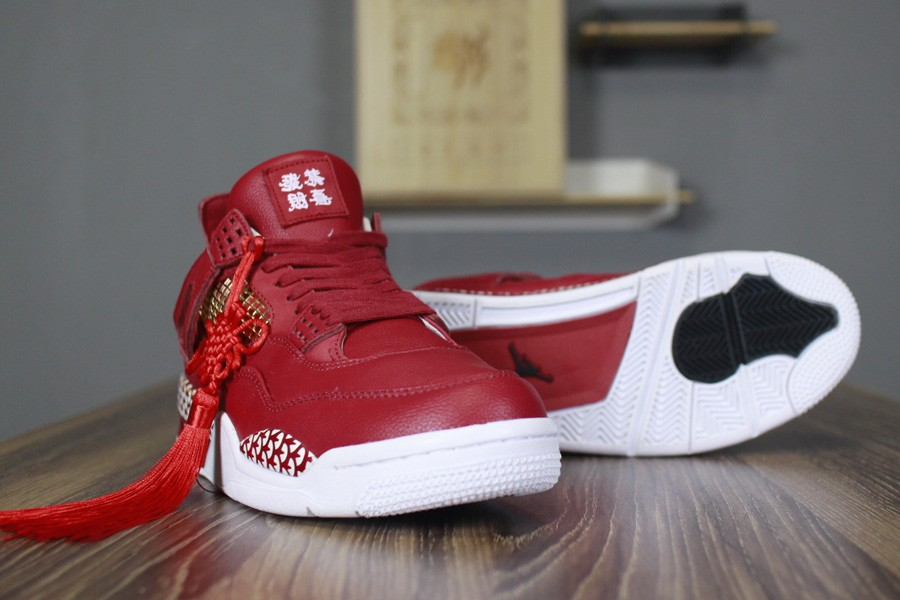 12616b96fb50c5 ... 2018 Remade x 400ml Red Air Jordan 4 CNY Chinese New Year Custom For  Sale ...