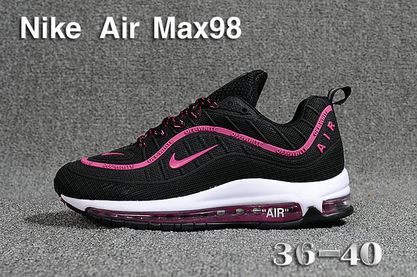 edf7f18f895 2018 Womens Nike Air Max 98 Ultra Black Purple Red White Cheap Sale ...
