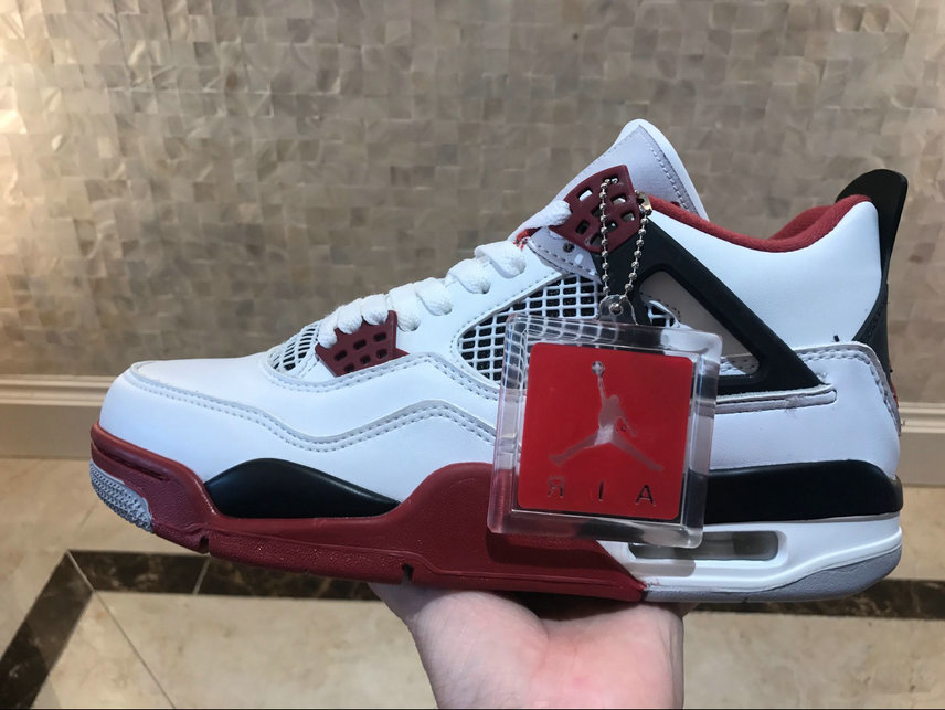 San Francisco e85e5 a6534 Air Jordan 4 Retro Game Red Black White Blanc Noir Claret ...