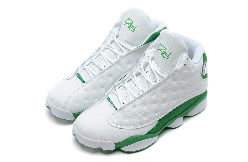 5efaa04a815862 ... Air Jordans 13 Retro Ray Allen Three-Point Record White Clover For Sale  ...