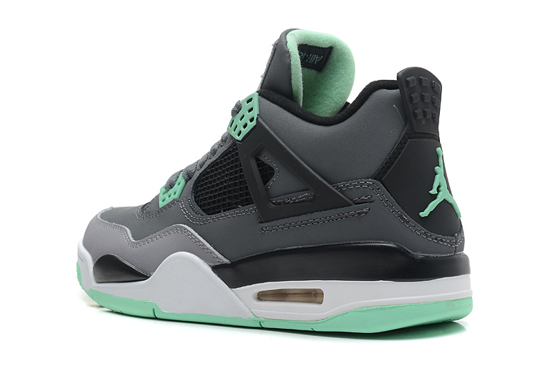 92bdc97ec8489c ... Air Jordans 4 Retro Dark Grey Green Glow-Cement Grey-Black For Sale ...