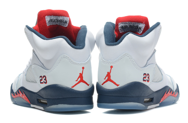 9530fab4ee8 Air Jordans 5 Retro White Varsity Red-Obsidian For Sale - Cheap Nike ...