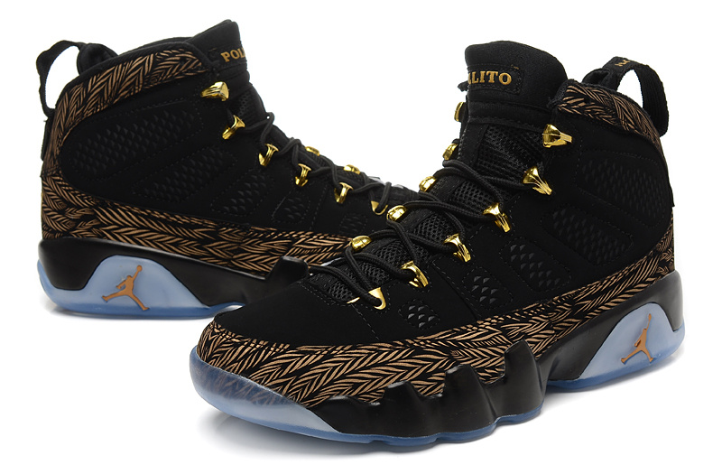 finest selection 50a62 2b1ca ... Air Jordans 9 Retro DB Doernbecher Gold Black Custom For Sale ...