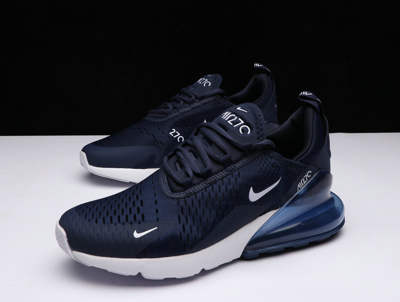 online store 85655 dc3c8 ... New 2018 Air Max Cheap x Nike Air Max 270 In Midnight Navy Black-White  ...