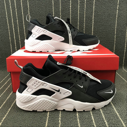 b76bda8fa ... Cheap Nike Air Huarache Run AS ZIP QS BQ6164-001 Black White Noir Blanc