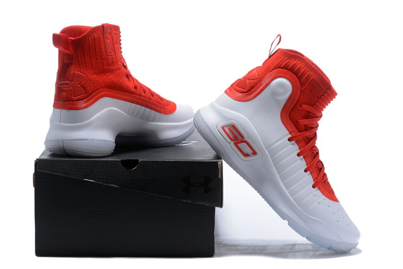 best loved c26ab a683e Cheap UA Curry 4 White University Red Basketball Shoes For ...