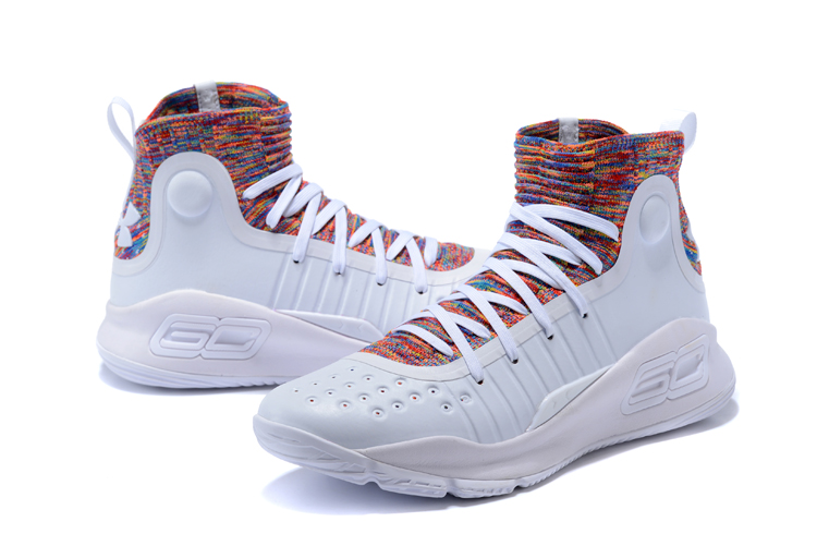 f61105a95823 Cheap Under Armour Curry 4 White Multi-Color For Sale - Cheap Nike ...