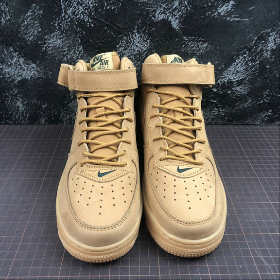 Nike AIR FORCE 1 MID 07 715889 200 Flax Outdoor Green Lin