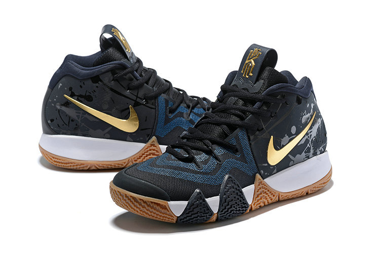 40554abae280 Nike Kyrie Irving 4 Cheap Black Gold White Navy Blue - Cheap Nike ...