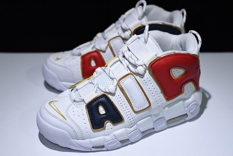 timeless design 8b983 cebd3 ... Supreme x Nike Air More Uptempo White Black Red Gold For Sale ...