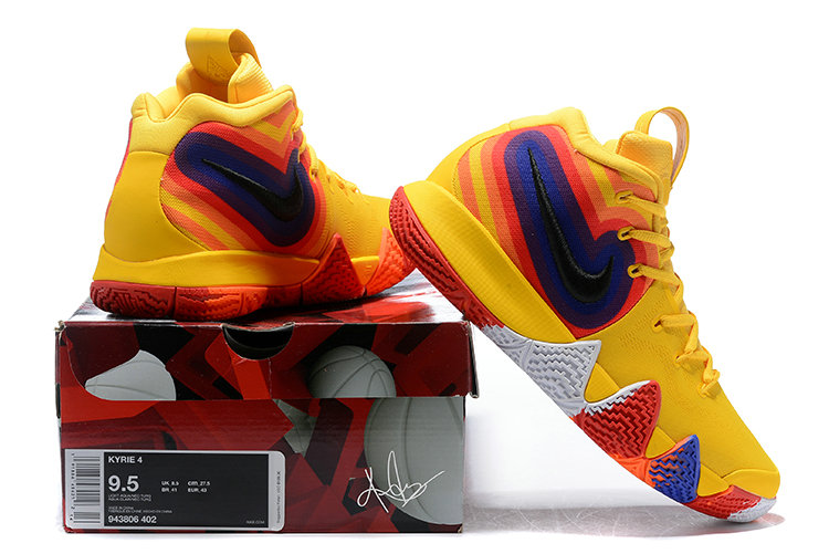 0c4bc2b86f32 ... Cheap Where To Buy Nike Kyrie 4 70s 943807-700 Yellow Orange Purple and  Red